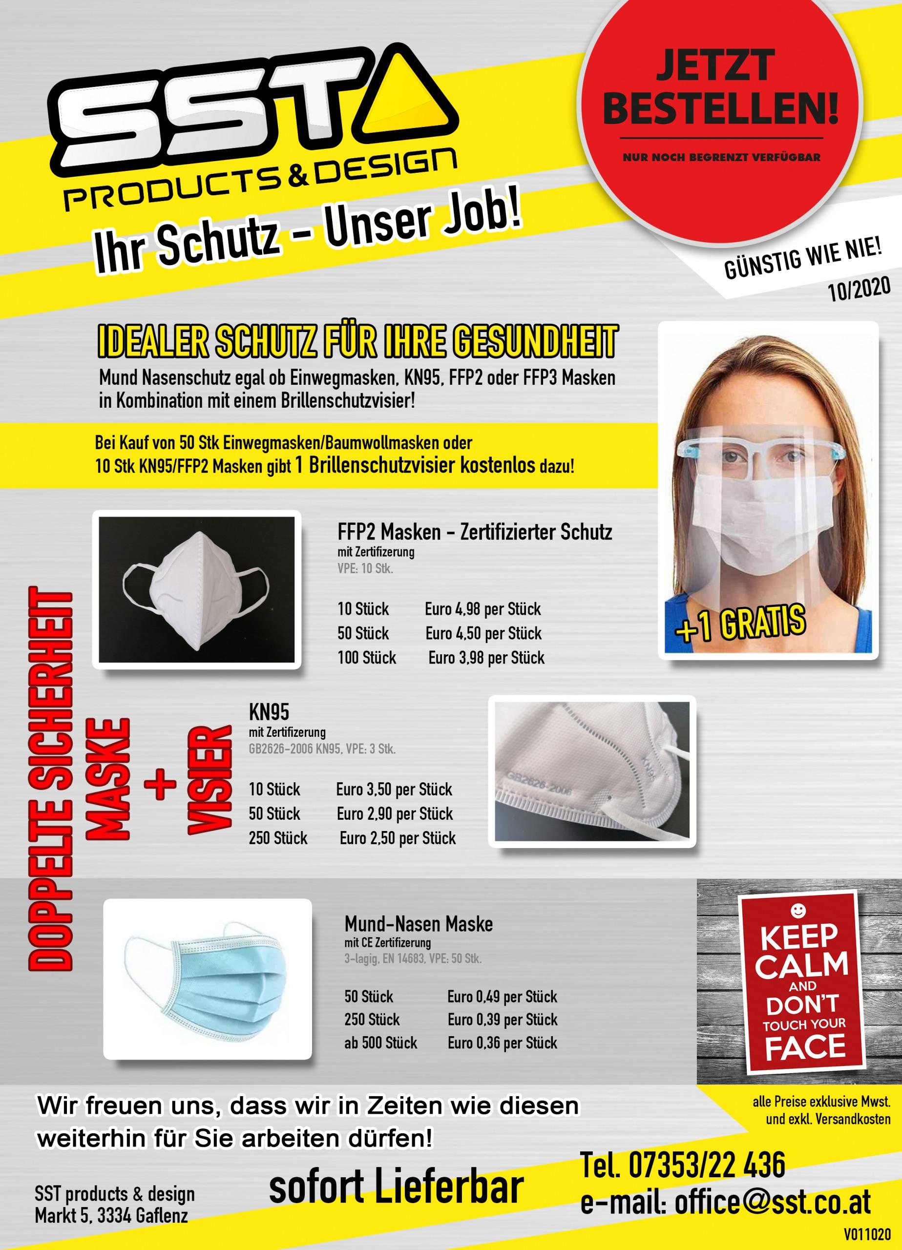 Newsletter schutz inkl gratis visier